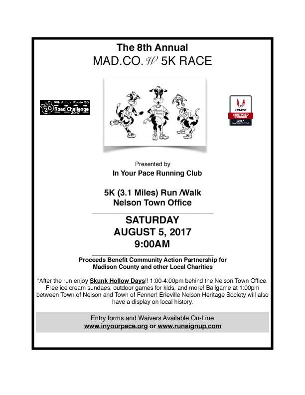 8th Annual MADison COWnty 5K Run/Walk